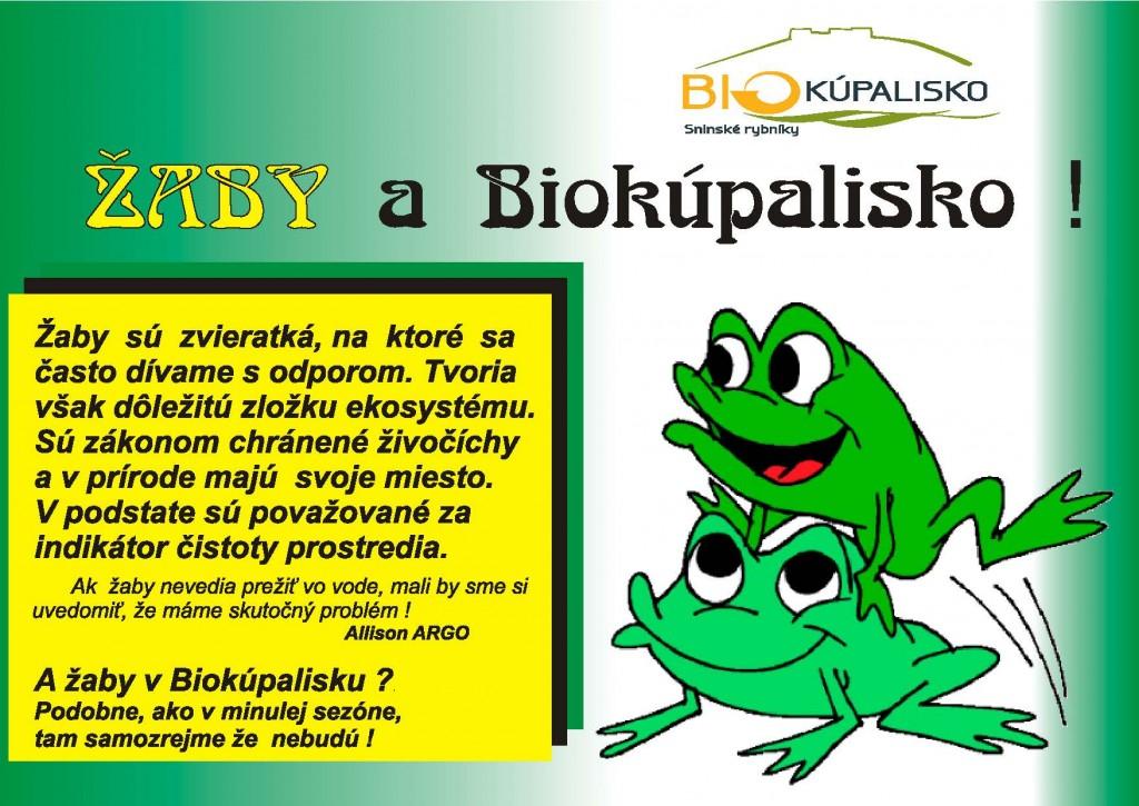 žaby-a-biokúpalisko